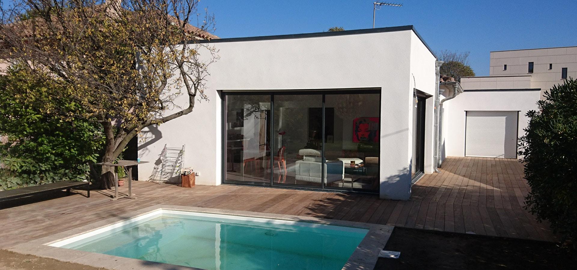 extension terrasse et piscine aix en provence. Black Bedroom Furniture Sets. Home Design Ideas