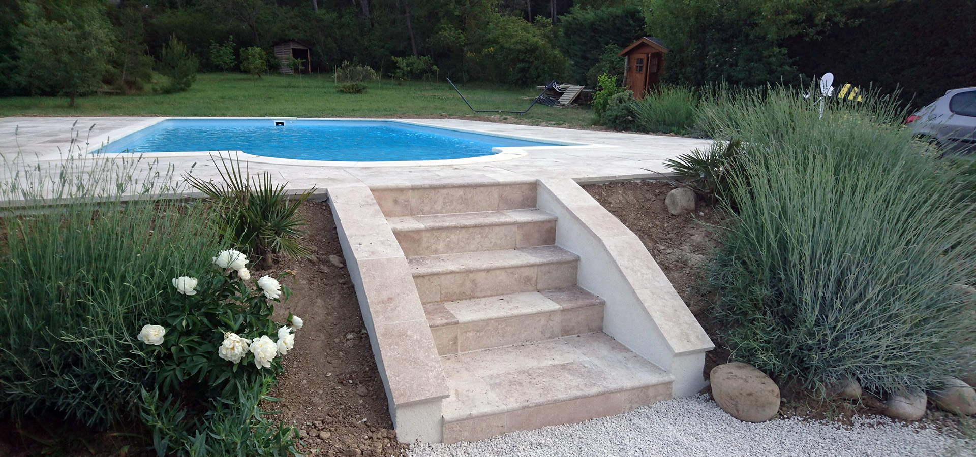 Am nagement ext rieur piscine ventabren rc entreprise - Amenagement exterieur piscine ...