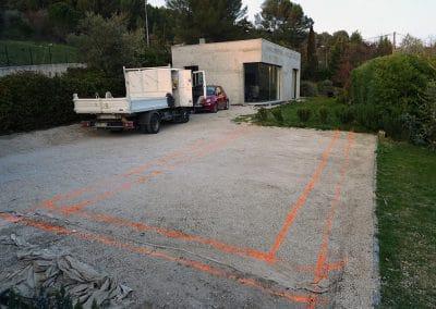 Départ du chantier piscine